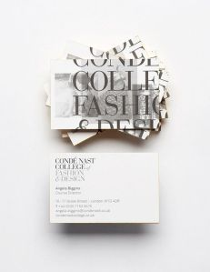 Condé Nast College of Fashion Design Business Card