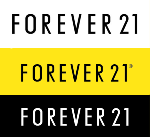 Forever 21 Colored Logos