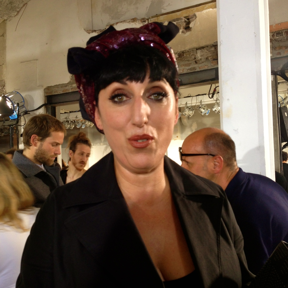 Rossy De Palma at the Hexa by Kuho SS14 Paris Fashion Week Show