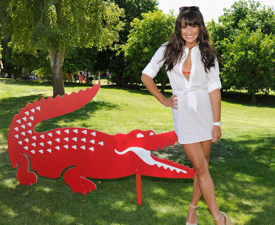Lacoste and Lea Michele at Coachella